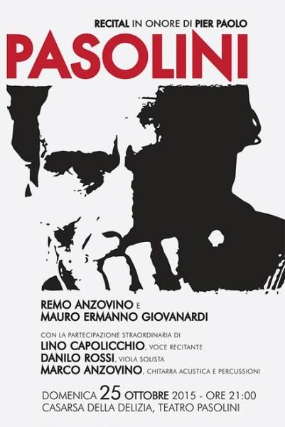"""""""Recital in onore di P.P.P."""" di Remo Anzovino. Locandina"""