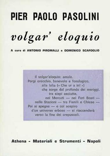"""""""Volgar'eloquio"""", Copertina"""