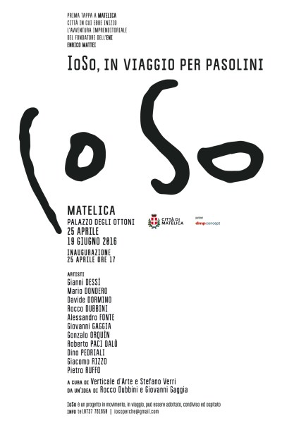 """""""IoSo. In viaggio per Pasolini"""". Manifesto"""