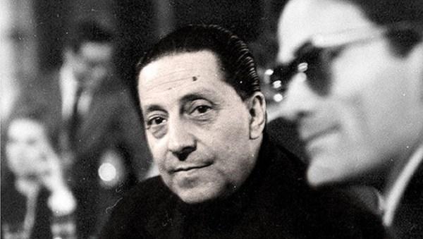 Sandro Penna e Pasolini, negli anni Sessanta. Foto di Mario Dondero