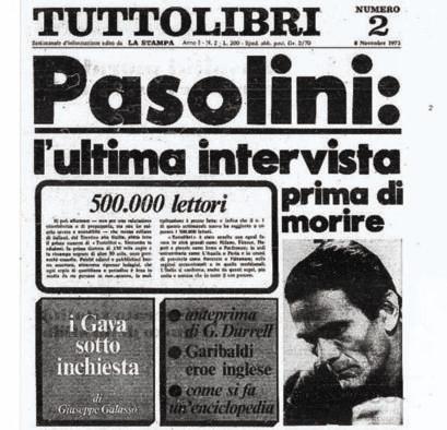 """La pagina di """"Tuttolibri"""" dell'8 novembre 1975"""
