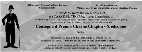 X Premio Charlie Chaplin. Cartolina invito