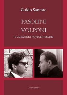 """""""Pasolini e Volponi (variazione novecentesche"""" di Guido Santato. Copertina"""