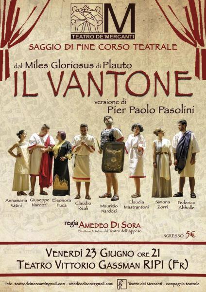 """Il Vantone"", regia di Amdeo di Sora (2017). Locandina"