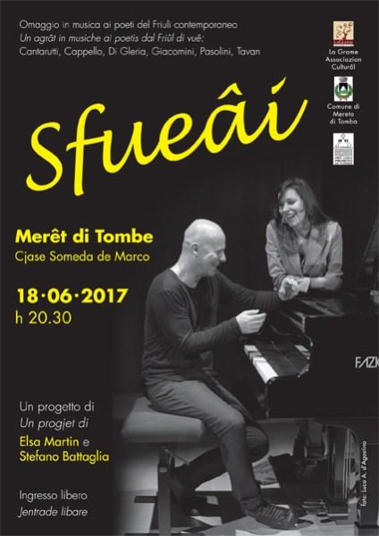 """""""Sfueâi"""" a  Mereto di Tomba. Locandina"""