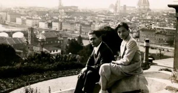 Carlo Alberto Pasolini con il figlio Pier Paolo a Firenze