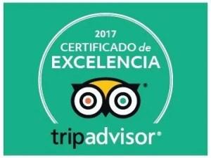 Centro Urku Certificado de excelencia TRIPADVISOR 2017