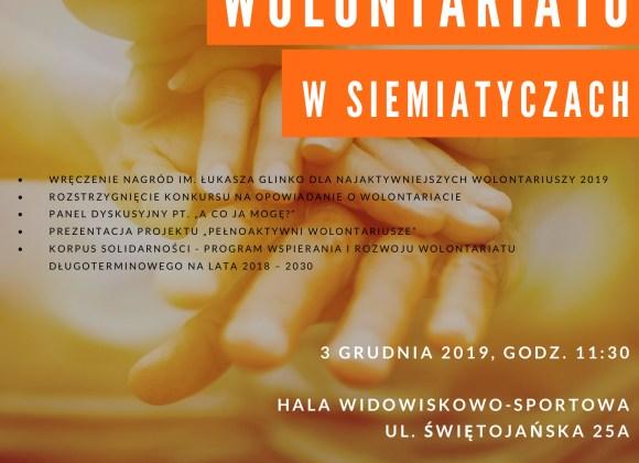 Zapraszamy na I Galę Wolontariatu w Siemiatyczach, 3 grudnia 2019