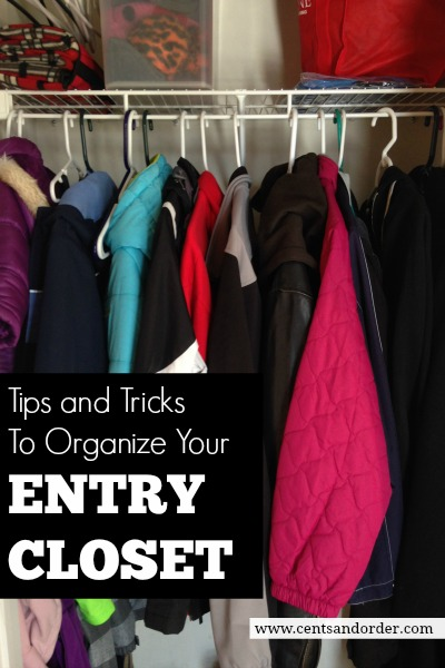 Messy coat closet? Tips to maximize your small closet space. Organize a small entry closet with these tips to organize coats, shoes, and accessories.