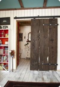 Modern Barn Doors: An easy solution to awkward entries ...