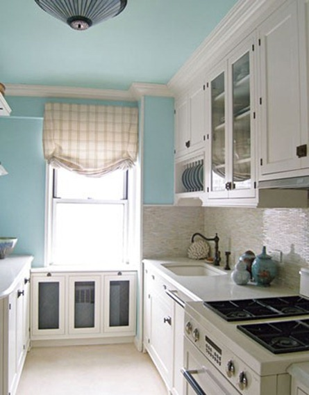 painted ceilings, teal ceilings, teal paint
