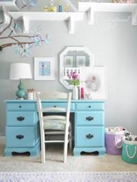 Lavender + Blue Girls Room | Centsational Style