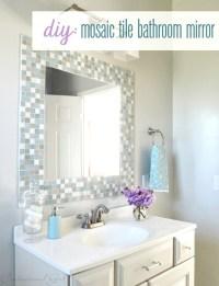 DIY: Mosaic Tile Bathroom Mirror | Centsational Style