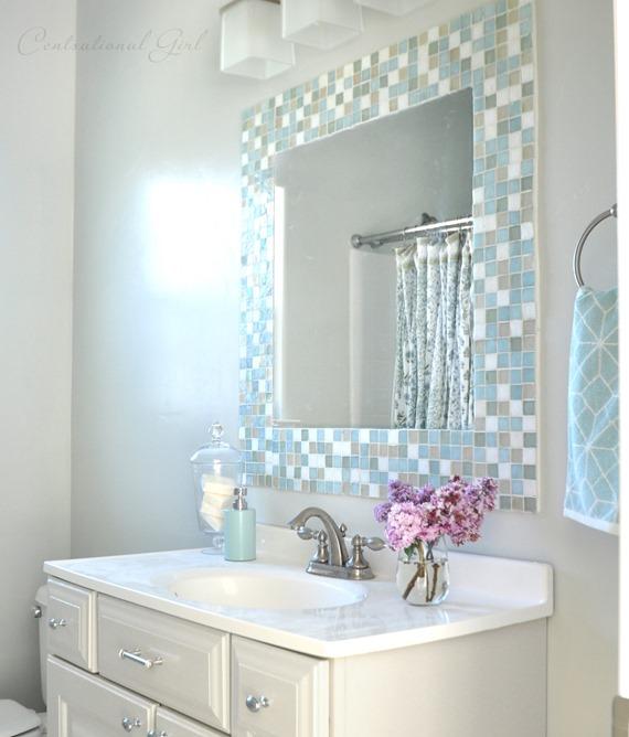 DIY: Mosaic Tile Bathroom Mirror