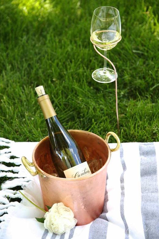 diy wine glass stakes