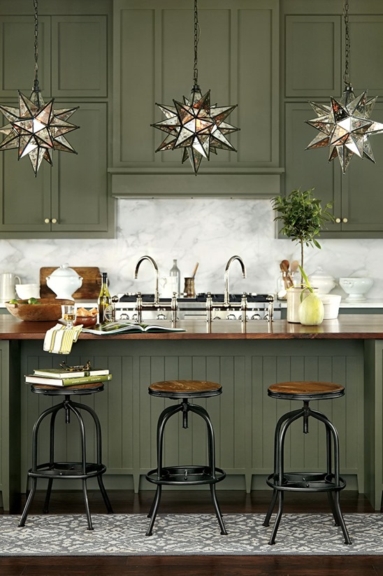moss green cabinets