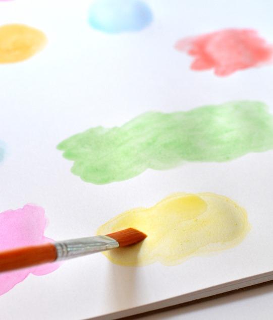 watercolor sploches