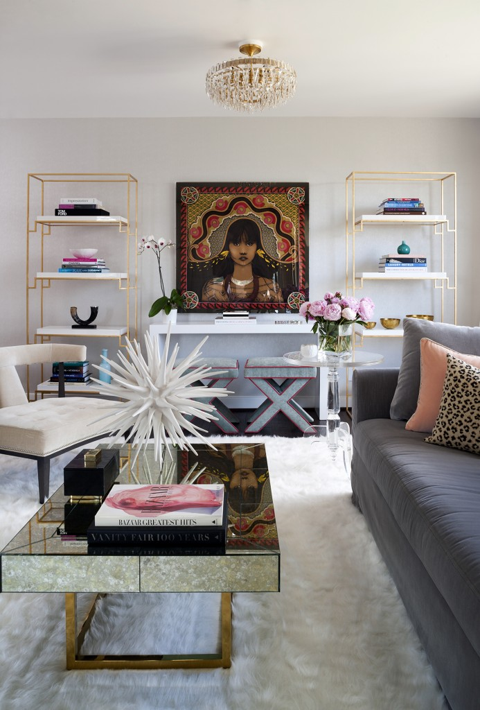 minimal bookcase styling