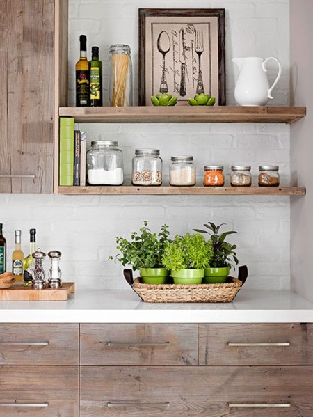 open rustic kitchen cabinets Weekend Reading | Centsational Style