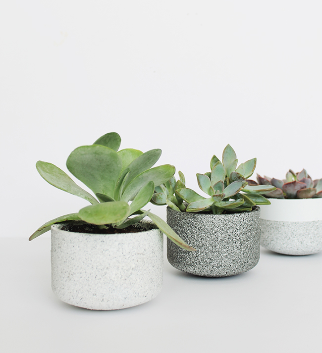 mini granite pots