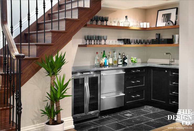 wet bar under stairs
