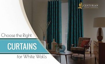 choose the right curtains for white walls