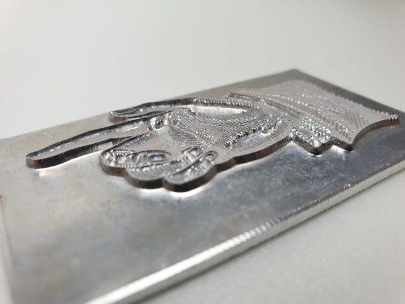 Magnesium letterpress printing plate, embossing die