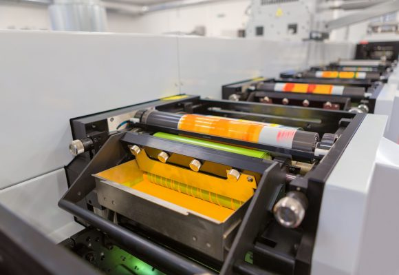 Flexo plate machine in the printing process