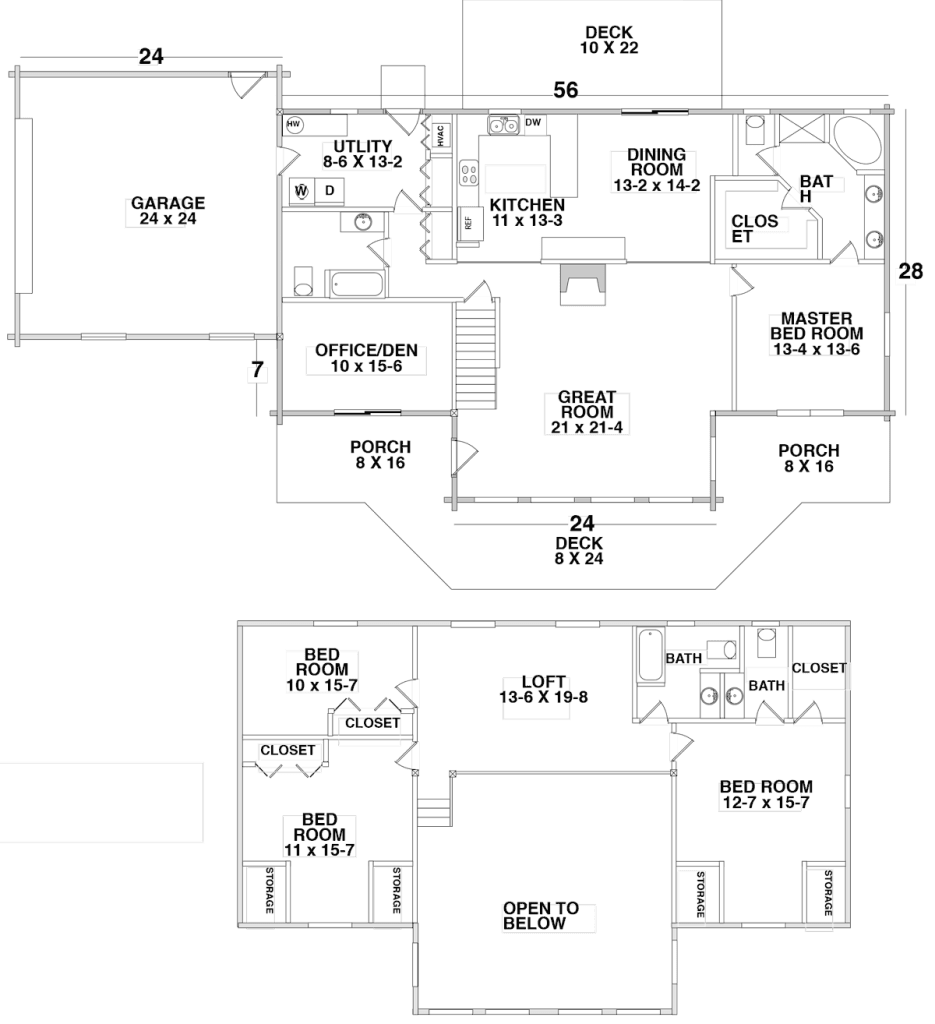 Floor Plan for the CENTURY MEADOWS by Century Cedar Homes