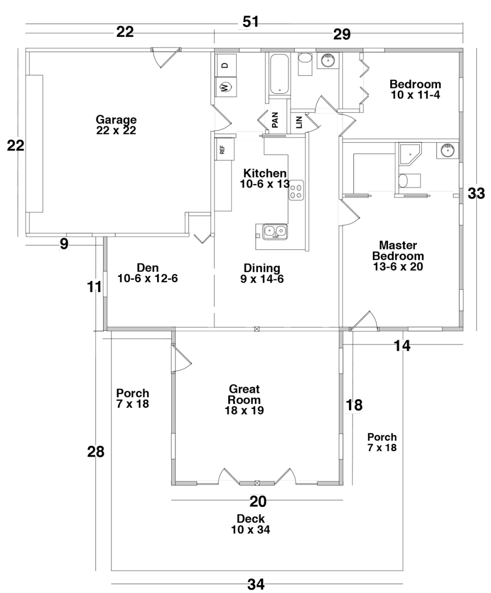 Floor plan for Century Cedar's Sonora