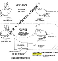kwik shift i ford c4 and c6 shifter configurations  [ 1200 x 931 Pixel ]