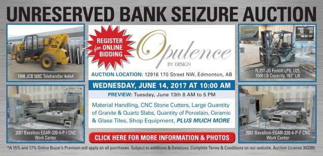 UNRESERVED BANK SEIZURE AUCTION – Opulance by Design