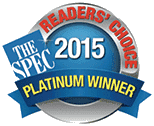 Readers' Choice - Platinum Winner 2015