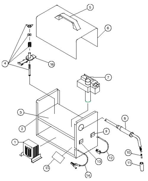 117-071 83071 Century 80 Amp Wire Feed Welder Parts