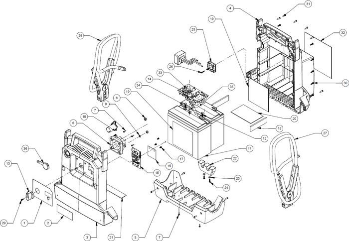 PSJ-4424 Schumacher 12/24 Volt Jump Starter Parts