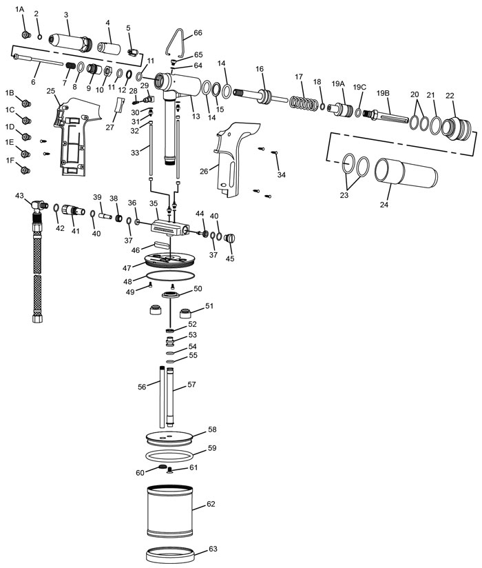 Chicago Pneumatic CP9884 Air Riveter Repair Parts