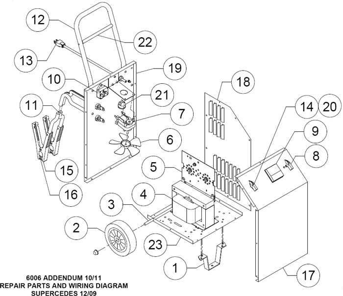 6006B Associated Battery Charger Parts List