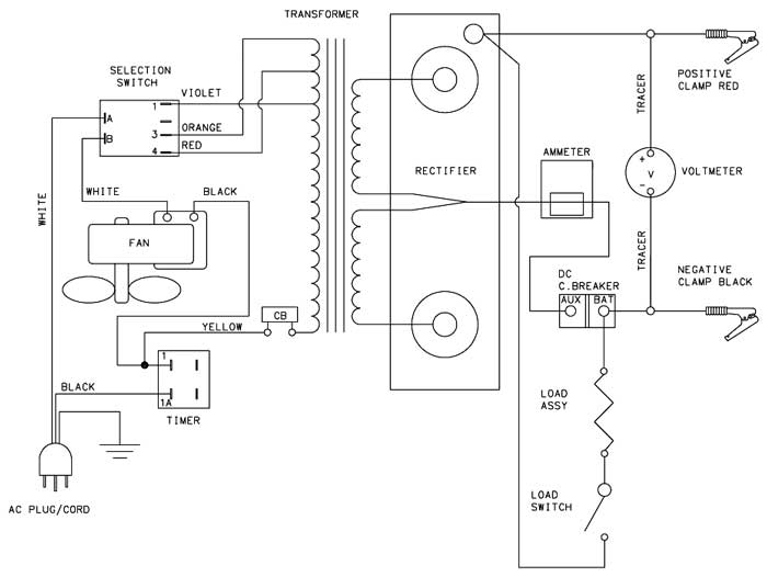 6021 Associated Battery Charger Parts List