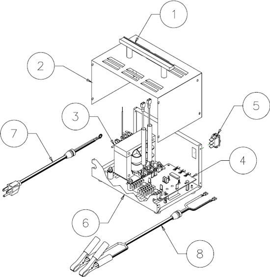 9408 Associated Battery Charger Parts List