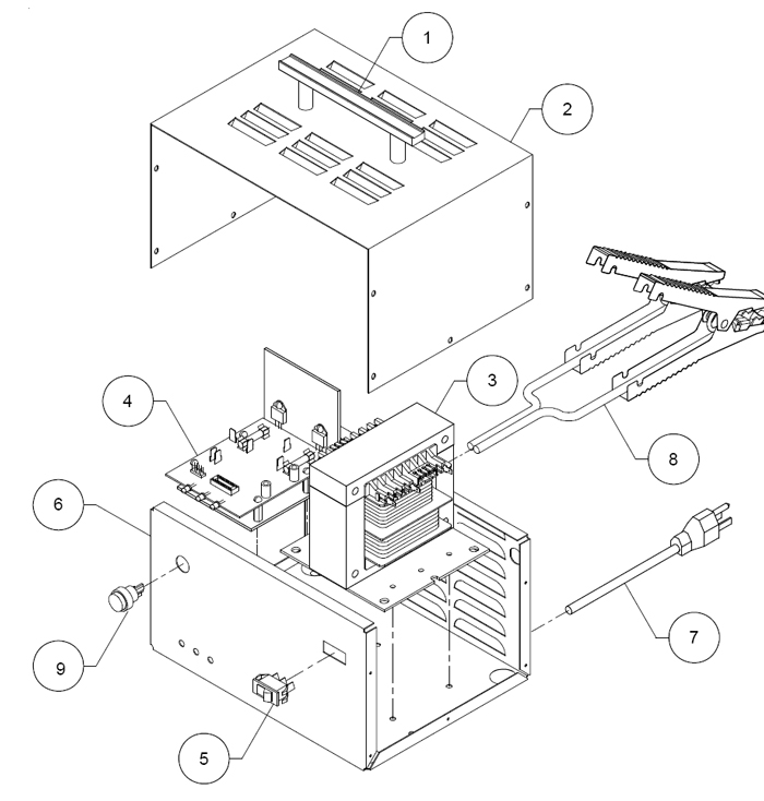 9425 Associated Battery Charger Parts List