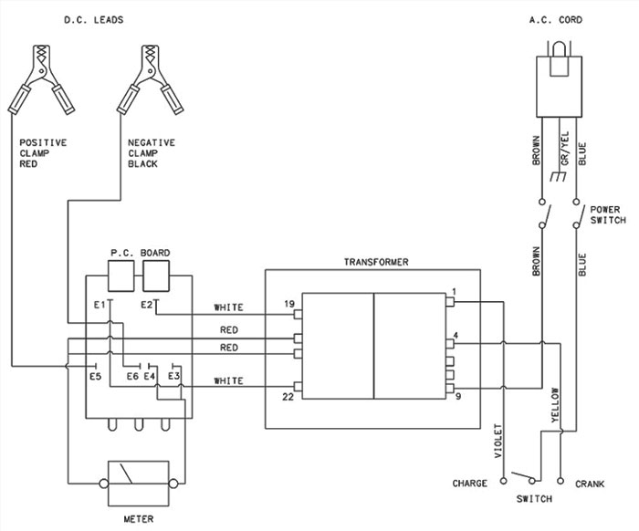 9520 Associated Battery Charger Parts List