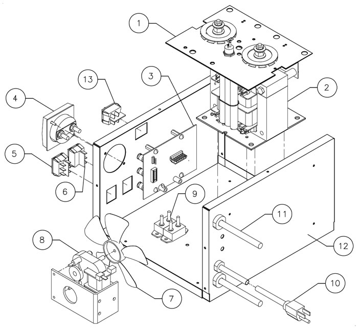 9640 Associated Battery Charger Parts List