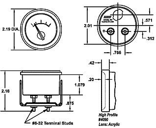 247-152-666 Voltmeter Round 11-15 Volt DC