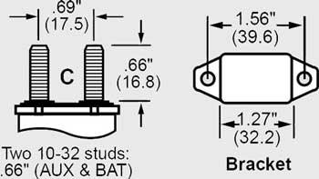 3999000098 Circuit Breaker 12 Volt 30 Amp (Pair)