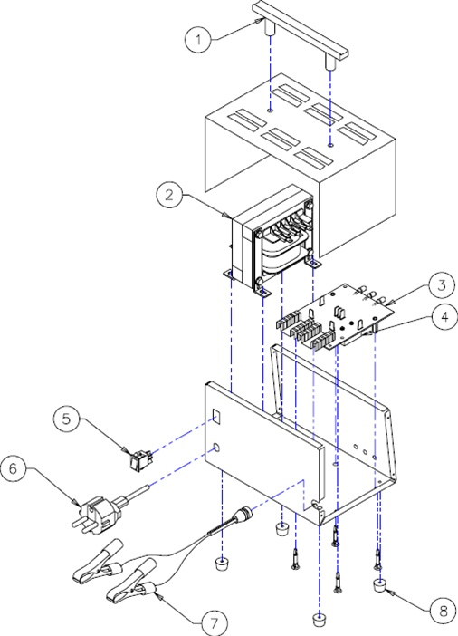 9510 Associated Battery Charger Parts List