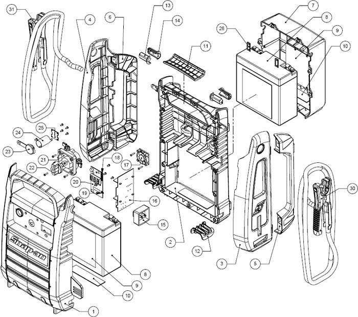 EEJP500V24 Snap-On 12/24 Volt Booster Pack