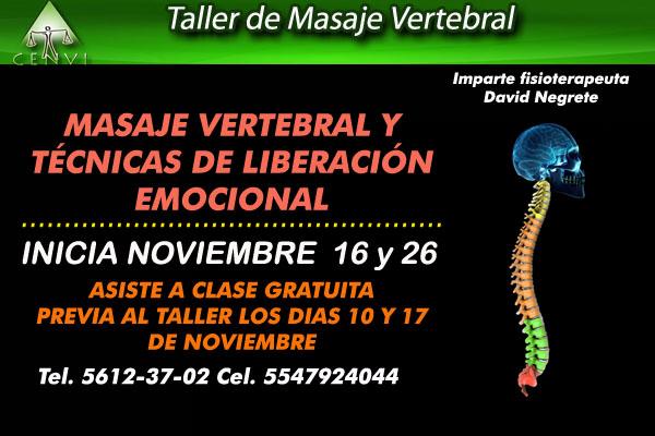 Taller masaje vertebral