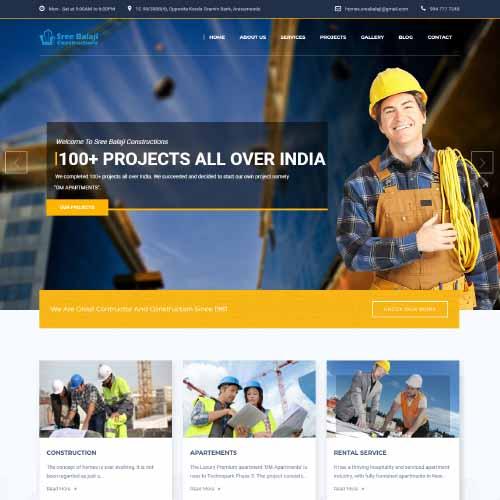 Sree Balaji Constructions.