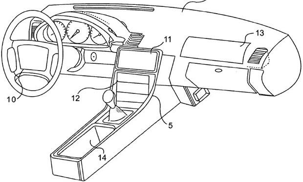 Apple Embedded Steering Wheel Screen Approved
