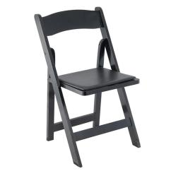 Black Padded Folding Chairs French Country Ladder Back Dining Wood Chair